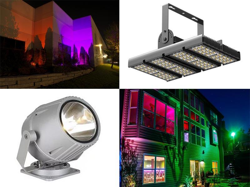 Светодиодные светильники широко используются в наружном освещении.