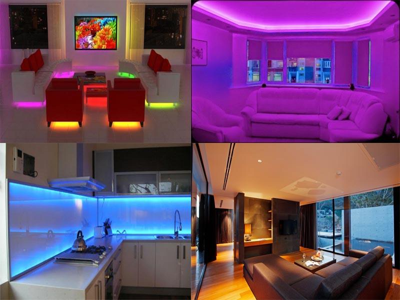 Светодиодные ленты используют для подсветки